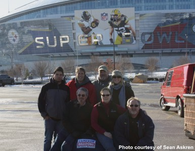 Super Bowl XLV Balloon Teams